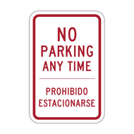 R7-1-ES No Parking Any Time - English/Spanish