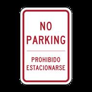 R8-3a-ES No Parking - English/Spanish