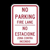 HR8-31 No Parking Fire Lane - English/Spanish