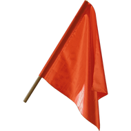 "18"" and 24"" Warning Flags"