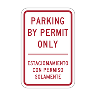 PBP-ES Parking by Permit Only - English/Spanish