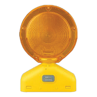 Yellow Solar-Assist Barricade Light