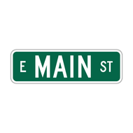 "9"" Flat Aluminum Street Name Sign"