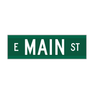 "6"" Extruded Aluminum Street Name Sign"