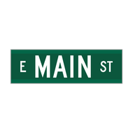 "9"" Extruded Aluminum Street Name Sign"