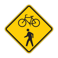 W11-15 Combination Bike and Ped Crossing
