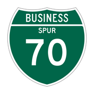 M1-3 Off-Interstate Route Sign (1 or 2 digits)