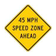 W3-5a XX MPH Speed Zone Ahead