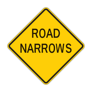 W5-1 Road Narrows