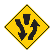 W6-1 Divided Highway