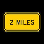 W16-3aP XX Miles (1 line plaque)