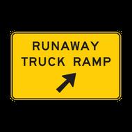 W7-4b Runaway Truck Ramp (with arrow)