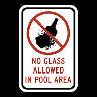 NGA No Glass Allowed in Pool Area