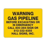 LLC-2 Warning Gas Pipeline