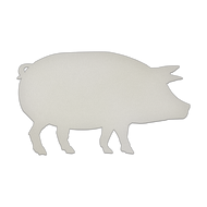 "23.5"" x 14"" Specialty Shape Aluminum Sign Blank - Pig"