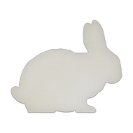 "11.5"" x 9.5"" Specialty Shape Aluminum Sign Blank - Bunny"