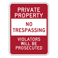 PPR Private Property No Trespassing
