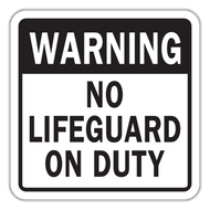 WNL-2 Warning No Lifeguard on Duty