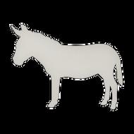 """23"""" x 17.5"""" Specialty Shape Aluminum Sign Blank - Donkey"""