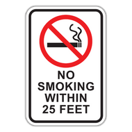 NSF No Smoking Within XX Feet