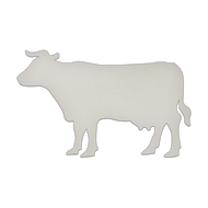 """29.5"""" x 20.5"""" Specialty Shape Aluminum Sign Blank - Cow"""