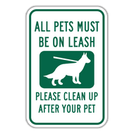 POL All Pets Must Be on Leash