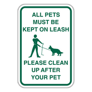 POL-ALT2 All Pets Must Be Kept on Leash