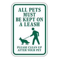 POL-ALT All Pets Must Be Kept on A Leash