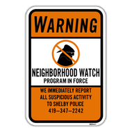 WNFP Warning Neighborhood Watch Program in Force