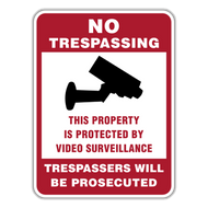 NTV No Trespassing This Property is Protected By Video Surveillance