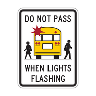 HW9-16 Do Not Pass When Lights Flashing