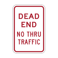 DET Dead End No Thru Traffic