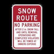 R7-203a Snow Route No Parking