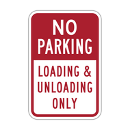 NPLU No Parking Loading & Unloading Only
