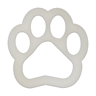 "8"" x 8"" Specialty Shape Aluminum Sign Blank - Paw Print Cutout"