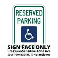 R7-8 Reserved Parking for Persons with Disabilities Sign Face