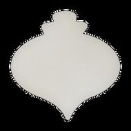 "8"" x 8"" Specialty Shape Aluminum Sign Blank - Holiday Bulb Ornament"