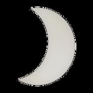 "8.5"" x 11.5"" Specialty Shape Aluminum Sign Blank - Crescent Moon"