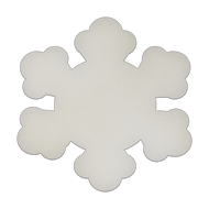 """12"""" x 12"""" Specialty Shape Aluminum Sign Blank - Snowflake"""