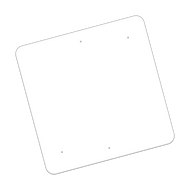 """36"""" x 36"""" Universal Punch Non-Reflective Sign Blank"""