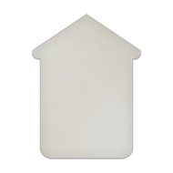 "18"" x 24"" Specialty Shape Aluminum Sign Blank - Large Dog House"