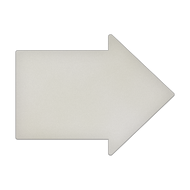 "23"" x 17.5"" Specialty Shape Aluminum Sign Blank - Arrow A"