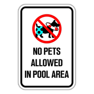 NPP No Pets Allowed in Pool Area