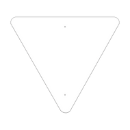 "36"" Triangle Non-Reflective Sign Blank"