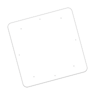 """48"""" x 48"""" Universal Punch Non-Reflective Sign Blank"""