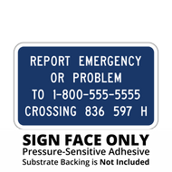I-13 Emergency Notification Sign Face