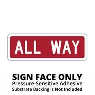 R1-3P All Way Sign Face