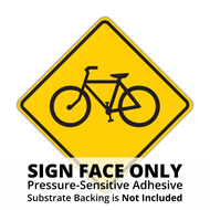 W11-1 Bicycle Sign Face