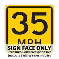 W13-1P Advisory Speed Sign Face