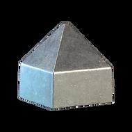 "1 3/4"" Square Pyramid Style Rain Cap"